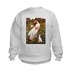 Windflowers / Ital Greyhound Kids Sweatshirt
