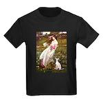 Windflowers / Ital Greyhound Kids Dark T-Shirt