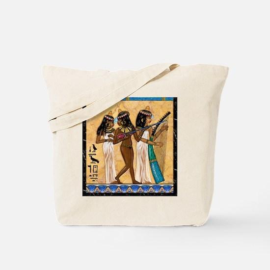 Nubian Musicians Egyptian Tote Bag