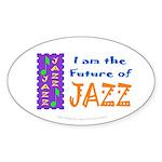 Future of Jazz Kids Oval Sticker