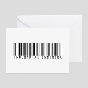 Industrial Engineer Barcode Greeting Card