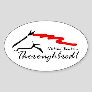 Thoroughbred Oval Sticker