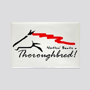 Thoroughbred Rectangle Magnet