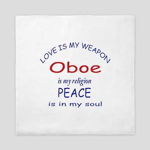 Oboe is my religion Queen Duvet