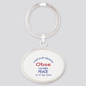 Oboe is my religion Oval Keychain