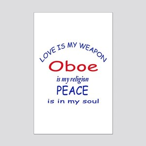 Oboe is my religion Mini Poster Print