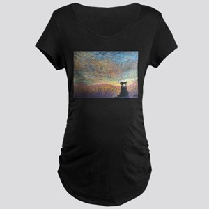 In the colour of evening Maternity Dark T-Shirt