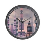 Sci Fi City 0 Wall Clock