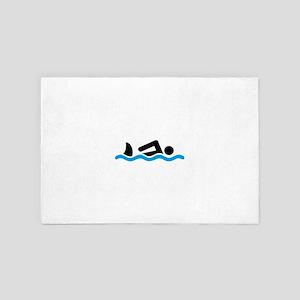 swimming 4' x 6' Rug
