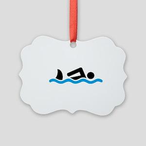 swimming Picture Ornament