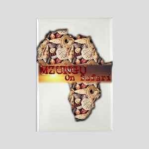 Mzungu On Safari - Rectangle Magnet