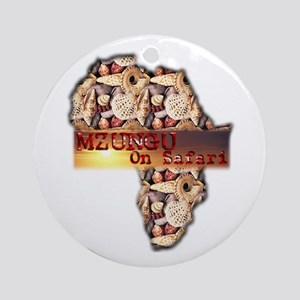 Mzungu On Safari - Ornament (Round)