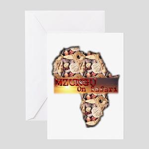 Mzungu On Safari - Greeting Card