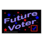 Future Voter Kids Dark Rectangle Sticker