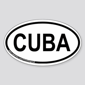 Cuba Oval Sticker