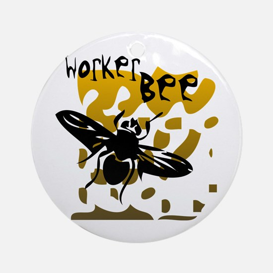Worker Bee Ornament (Round)