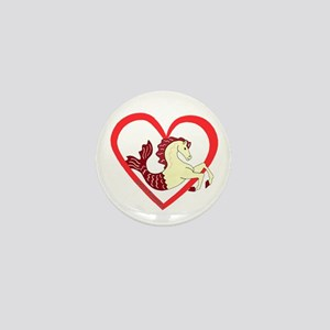 SeaHorse Heart Mini Button