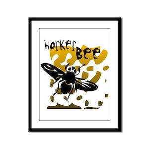 Worker Bee Framed Panel Print