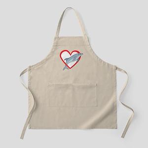 Dolphin Heart BBQ Apron