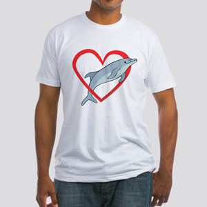 Dolphin Heart Fitted T-Shirt