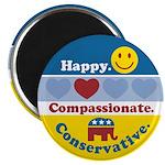 Happy Compassionate Conservative Magnet