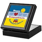 Happy Compassionate Conservative Keepsake Box