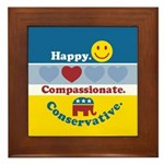 Happy Compassionate Conservative Framed Tile