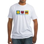 Happy Compassionate Conservative Fitted T-Shirt