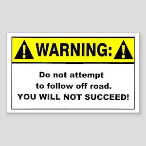 Warning / Do Not Attempt - Rectangle Sticker