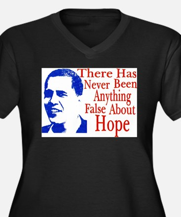 Funny Obama slogans Women's Plus Size V-Neck Dark T-Shirt