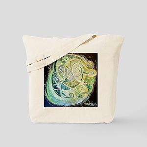 Green swirls Tote Bag