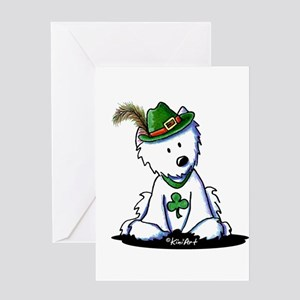 St. Patrick Westie Greeting Card