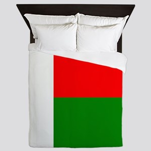Flag of Madagaskar Queen Duvet