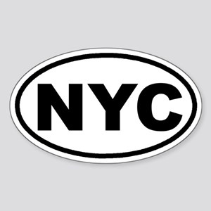 NYC New York City Euro Oval Sticker