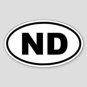 ND North Dakota Euro Oval Sticker