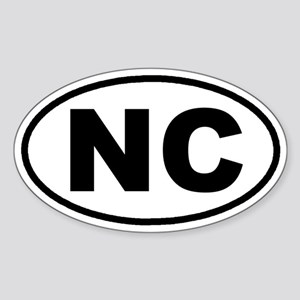 NC North Carolina Euro Oval Sticker