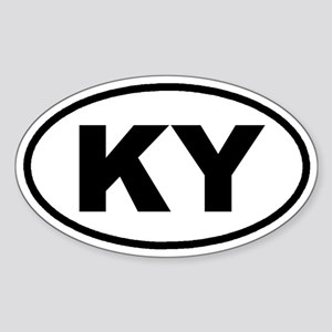 KY Kentucky Euro Oval Sticker