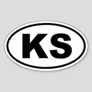 KS Kansas Euro Oval Sticker