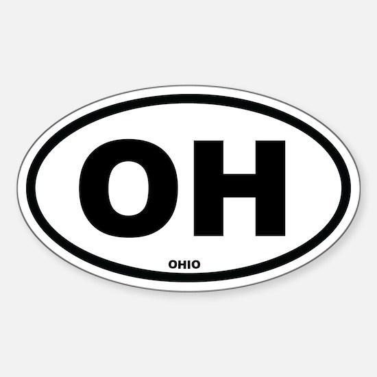 OH Ohio Euro Oval Decal