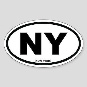NY New York Euro Oval Sticker