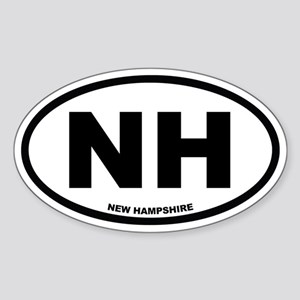 NH New Hampshire Euro Oval Sticker
