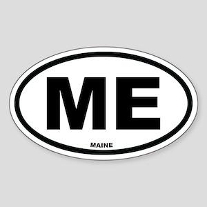ME Maine Euro Oval Sticker