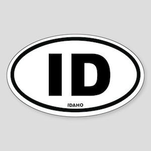 ID Idaho Euro Oval Sticker