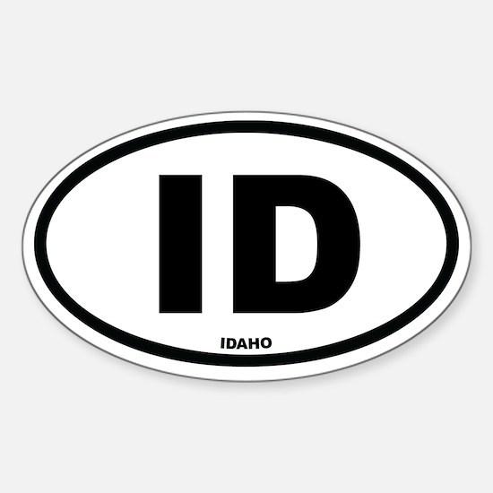 ID Idaho Euro Oval Decal
