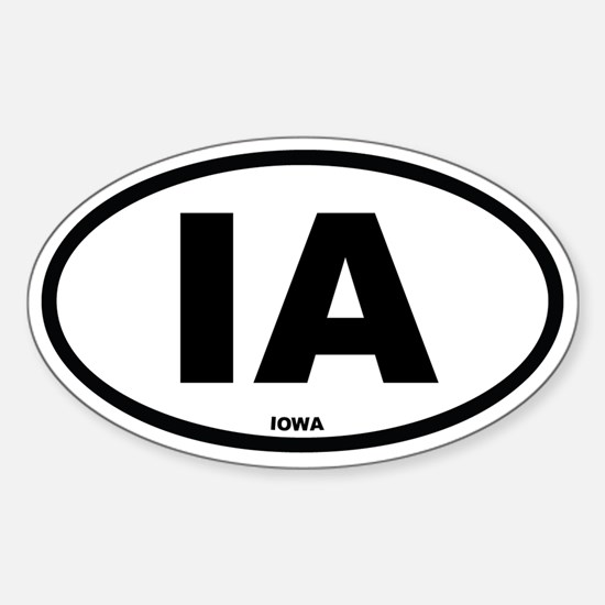 IA Iowa Euro Oval Decal