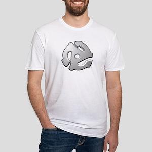 45 RPM Adapter DJ Logo Fitted T-Shirt