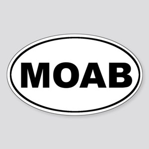 MOAB Mountain Biking Oval Sticker