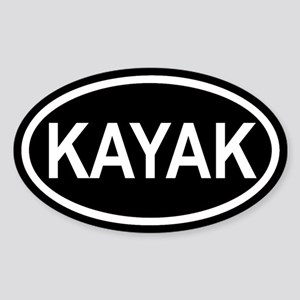 KAYAK Paddling Euro Oval Sticker
