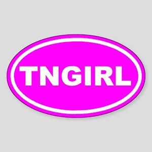 TN GIRL Pink Euro Oval Sticker