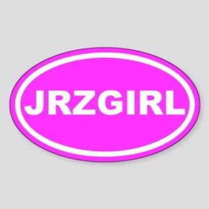 JRZ GIRL Jersey Girl Pink Euro Oval Sticker